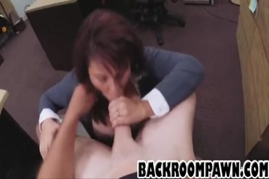 Hot wife sucks cock after getting fucked from the back.