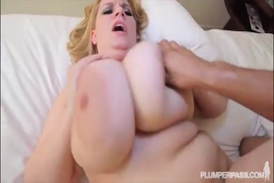 Bbw gives blow job to stranger while her husband is away.