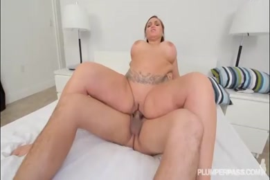 Busty wife sucks big cock and gets facialed by bbc.