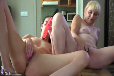 Lady with dildo cumshot in mouth.