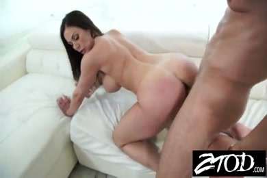 Big booty milf takes huge cock in the ass and gets facialed