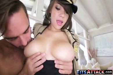 Titty fuck and swallow blowjob with britney amber.