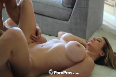 Big tit blonde slut fucks in pov.