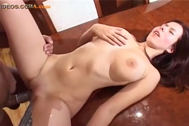 Big tits amateur girl playing with tits.