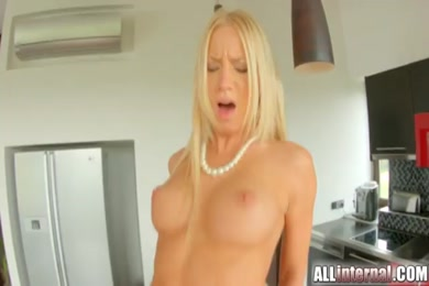 Hotwife fucked and filled with cum from hubby.