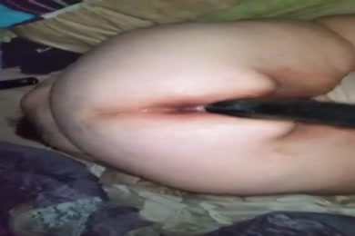 Bbw wife with fat ass fucks with huge dildo.