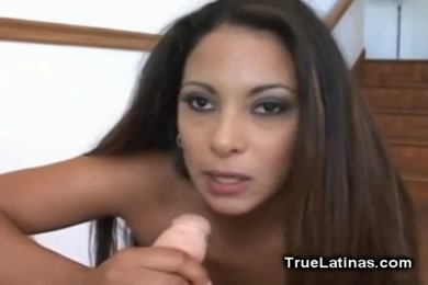 Sexy latina gives best head ever to my cock.