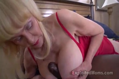Mature big tits and hairy pussy blowjob and doggy sex close up.