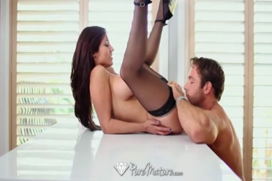 Hot amateur wife fucks and sucks hubby while husband is away.