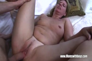 Pregnant and horny step daughter caught masturbating and fucked doggy.