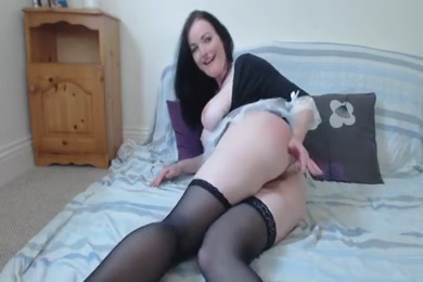 Cock hungry slut fucks her ass with dildo.