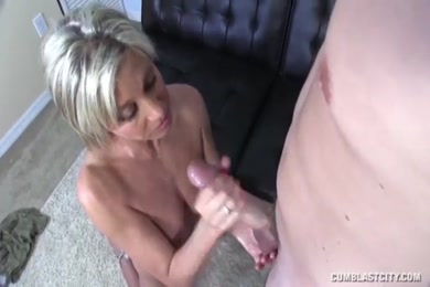 Young stud with huge cock cum with a big cumshot.