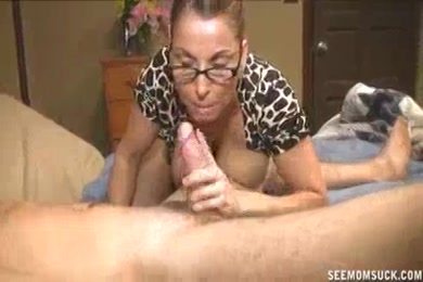 Hot wife milf in stockings sucks hubby's dick like the whore she is.