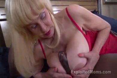 Blonde blowjob and cumshot on tits.