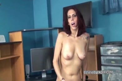 Hairy milf fucks her young pussy with toy.