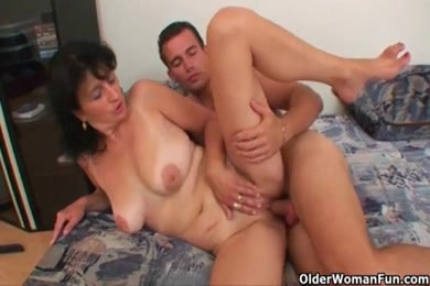 Sexy amateur mom rides big dick reverse cowgirl