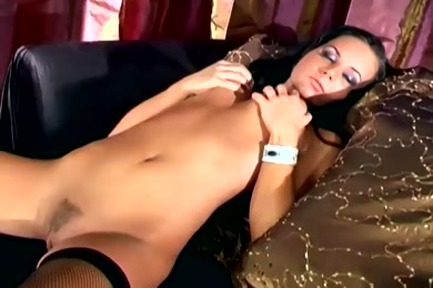 Big titted babe in thigh high socks has a hot fuck with her lover.