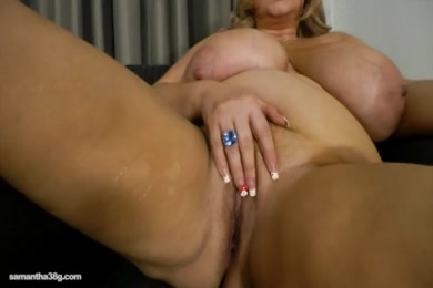 Sissy slut in chastity fucks herself till she squirts.