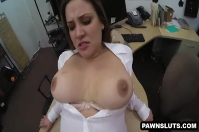 Tattooed brunette babe fucked hard with big cumshot in the face.