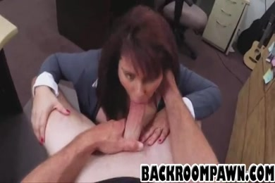 Thick redbone loves to play with that cock.