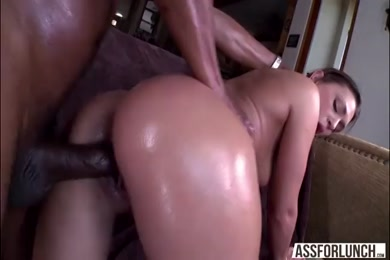 My wife fucked hard by two black cock.