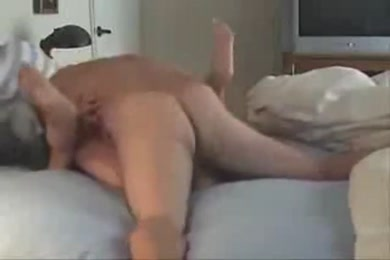 Horny wife gets fucked on her bed.