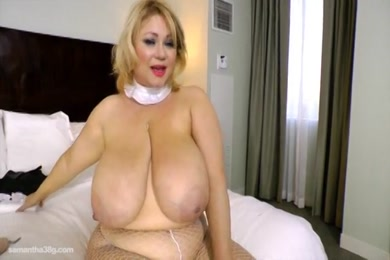 Bbw fucks herself with vibrator for the first time.