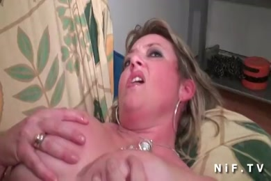 Sissy in chastity gets fucked by a man with a big dick.
