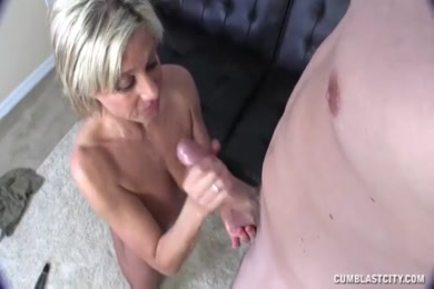 Thick cock jerking with a huge cumshot.