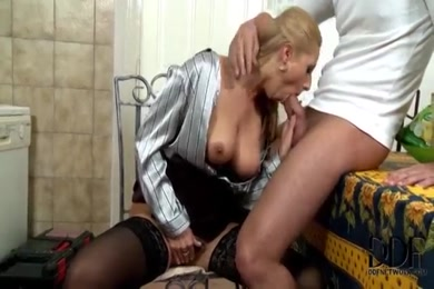 My hot wife sucking cock and cum on face.