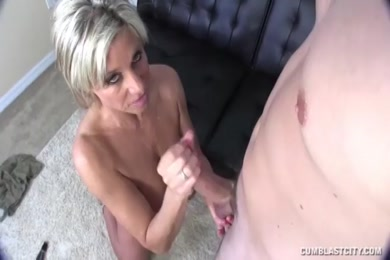 Pregnant wife gives me blowjob and then gets a huge cumshot