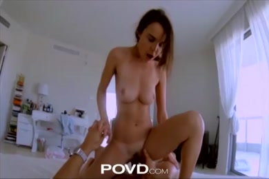 Maid in stockings gets fucked by a guy in the shower.