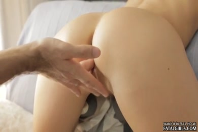 Hot blonde gets creampie in front of friends.