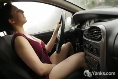 Masturbating to stepmom in the car while she drives me home.