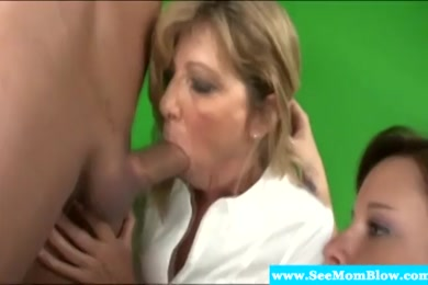 Mature woman sucking and fucking a big cock.