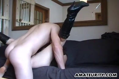 Ftm fucks his ass and cum while using vibrator.