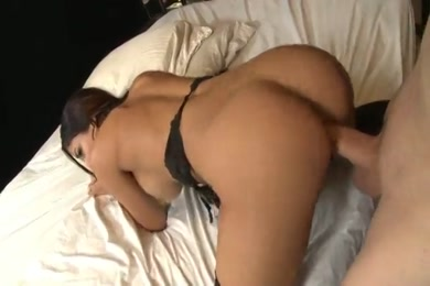 Busty brunette babe has a cum mouth for her lover.