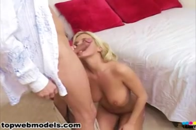 Busty blonde babe plays with her pussy until a cumshot.