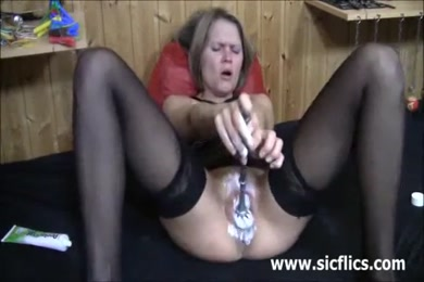 Cumming in the toilet with cum in my mouth.
