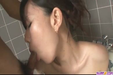 Hot milf with huge tits in shower.